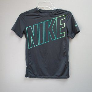 Boys Nike Dri Fit Fitted T Shirt Gray Sz Large